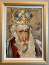charles bragg original oil on canvas painting king david