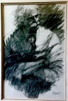 aldo luongo original charcoal drawing