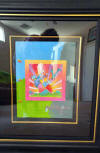 peter max Cosmic Flyer with Sun on Blends