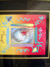 peter max i lover the world collage