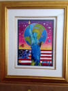 Peter Max Liberty with Earth and Flag
