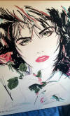 Dennis Mukai Original on Canvas Woman with a Rose