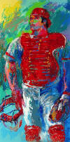 leroy neiman Johnny Bench - The Catcher
