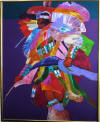john nieto original acrylic on canvas fancy dancer painting