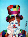 red skelton crazy quilt clown